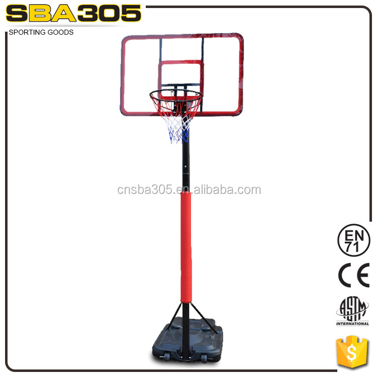 Hydraulic portable basketball stand