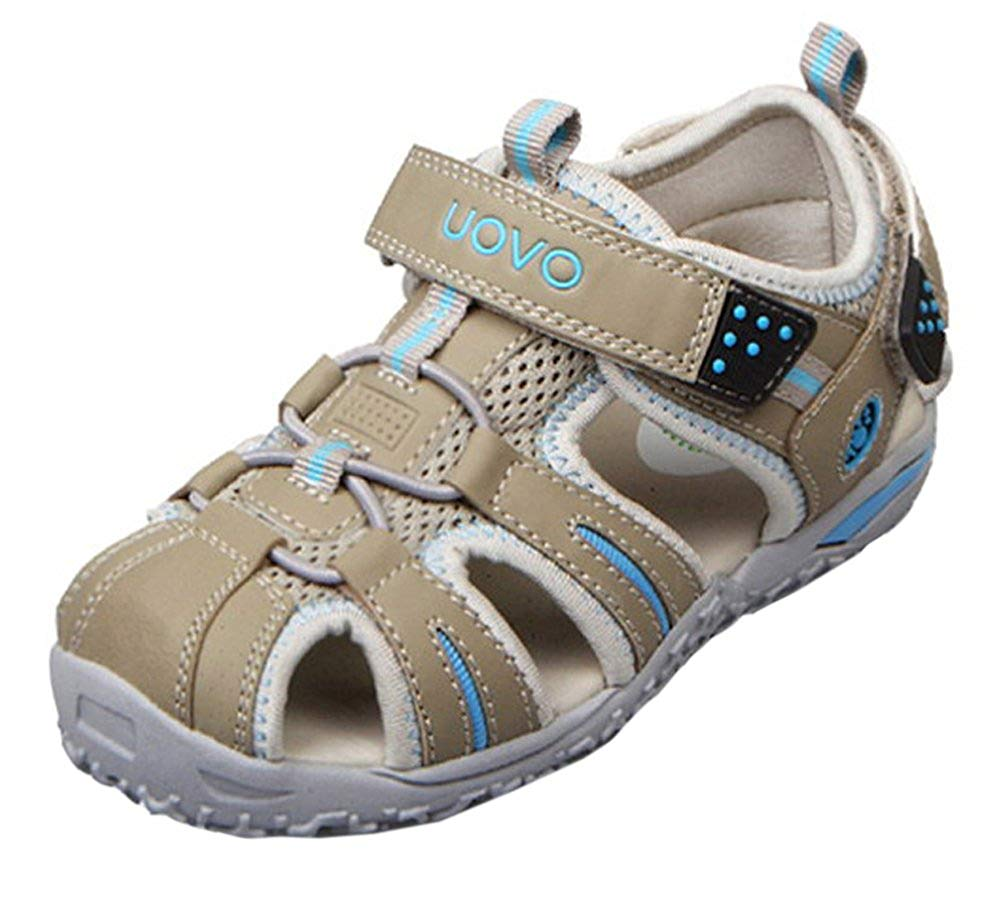 8a03c666d90 Get Quotations · iDuoDuo Boys Girls Kids Athletic Strap Closed Toe Leather  Fisherman Sandals (Toddler Little Kid
