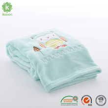 Owl Embroidery Polyester Blanket For Baby