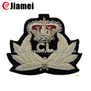 Fashion Silver Bullion hand made embroidery badge pakistan