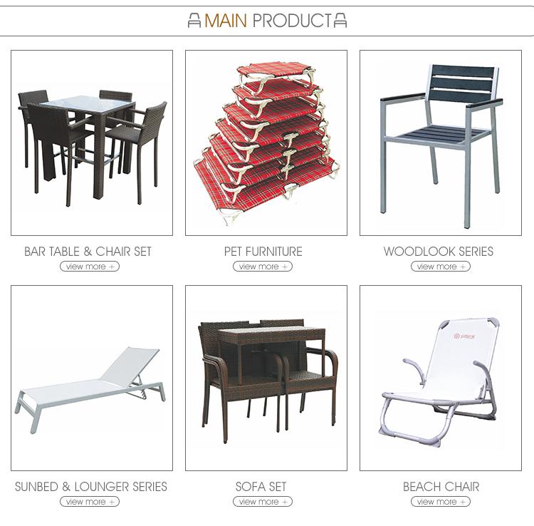 Wholesale Cheap Ultra Light Metal Aluminium Lounger Beach Chair With High Backrest