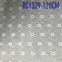 100% Cotton white Voile Eyelet Embroideried Fabric
