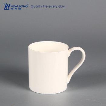 550ml Large Plain Coffee Mug Bone China Straight Round Oversized Ceramic Mugs