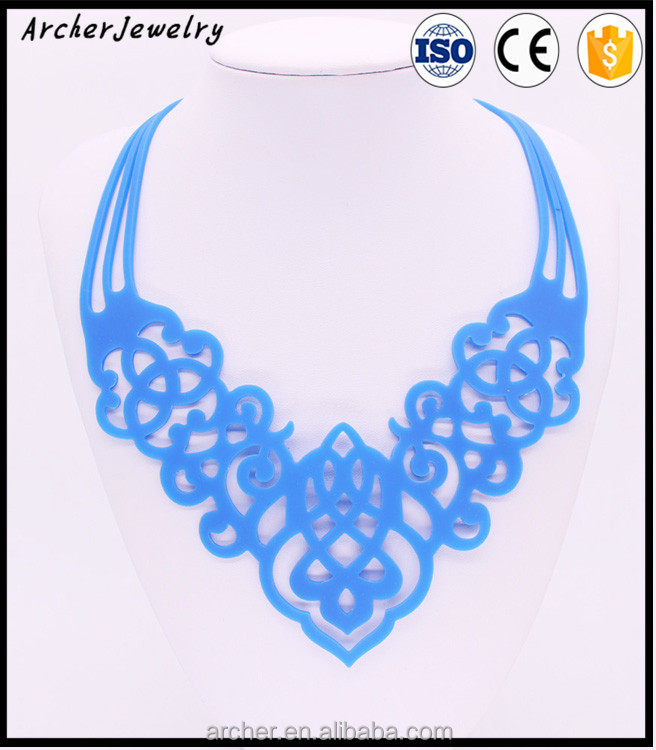 Newest hot sale silicone fashionable necklaces silica gel necklace 2016 new design necklace fashion NJ-181