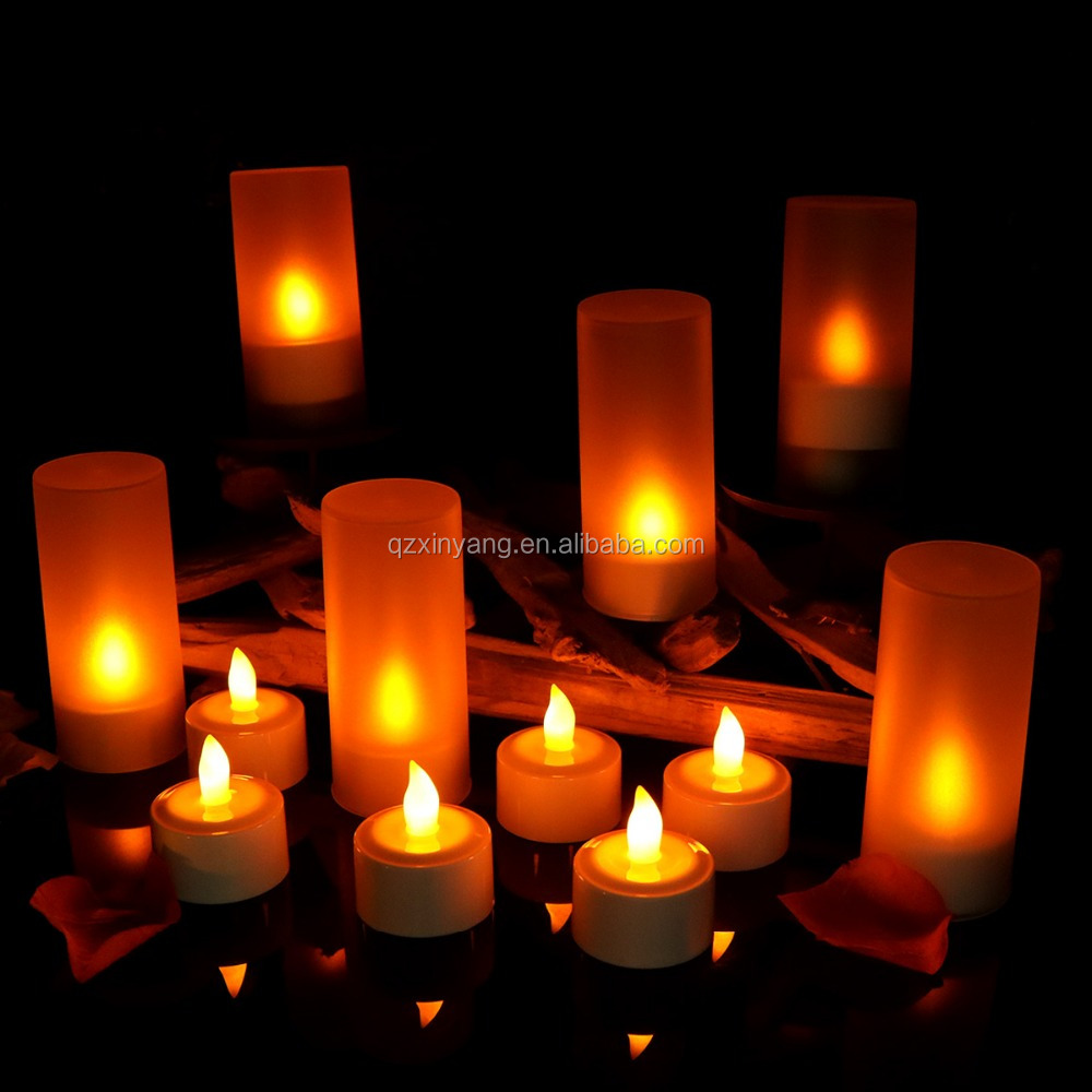 Imported From Abroad 12pcs/set Remote Controlled Led Candles Flickering Frosted Rechargeable Tea Lights/electronics Candle Lamp Wedding Pary Light Holiday Lighting