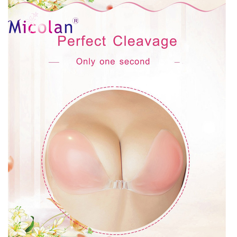 Silicone 100% Invisible Strapless bra Sexy Net Waterproof Bra
