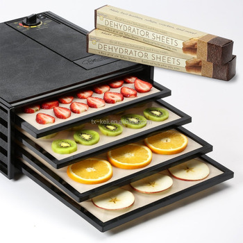 "BPA free! Set of 9 Non-stick Drying Sheets Dehydrator Sheets 14"" x 14"" x 4 mils - For Excalibur 2500, 3500, 2900 or 3900"