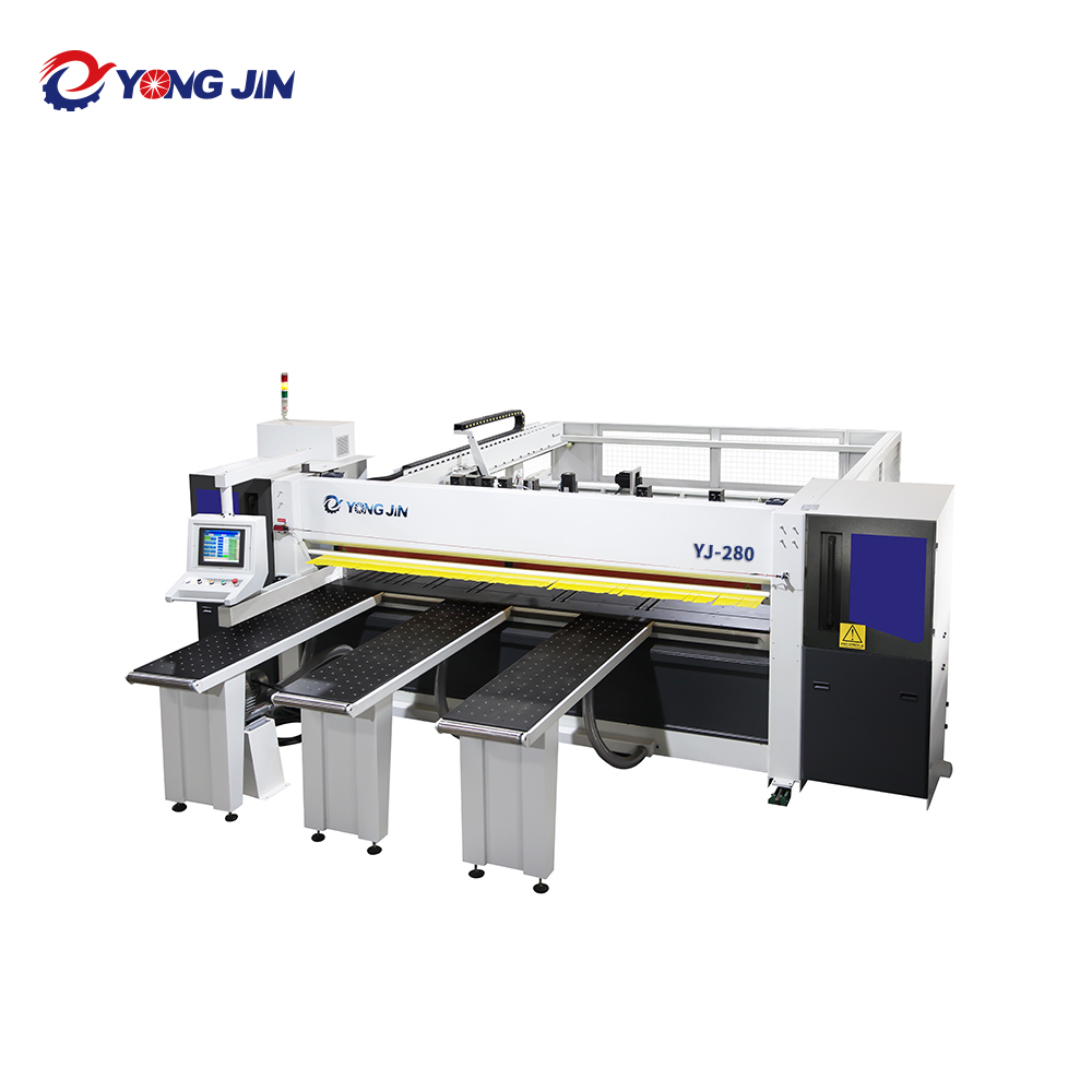YJ-280 high-efficiency computer beam saw machine automatic feeding CNC Panel Saw price