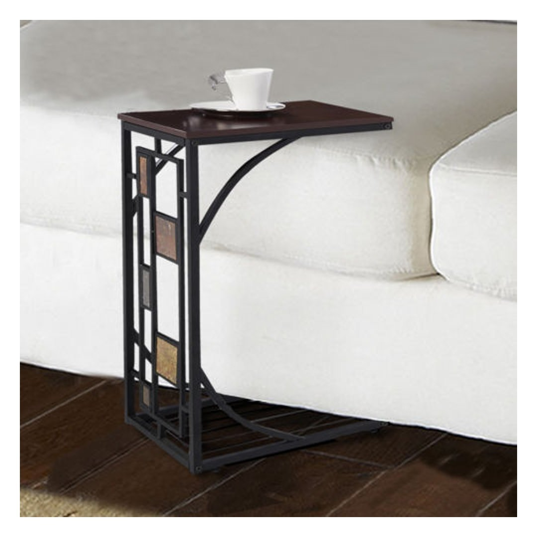 Get Quotations · Coffee Tray Side Sofa Table Ottoman Couch Room Console  Stand End TV Lap Snack