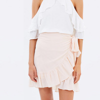 2017 Latest Women Skirt Design Ruffle Mini Skirts