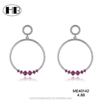 48998dcd6c8af Latest Design Fashion Style Cz Ruby Diamond Hoop Party Wearing Earrings For  Cute Girls - Buy Natural Ruby Stone Earrings,Fake Diamond Hoop ...