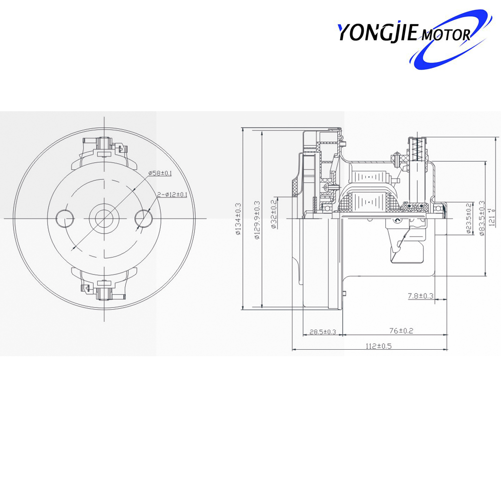 V1J-PH22 AC vacuum cleaner motor,High Quality good power vacuum cleaner motor