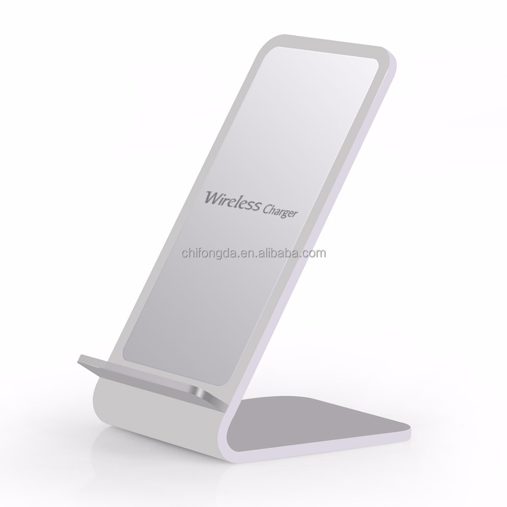 New Gadget 2017 A8 Aluminum Alloy 10W QI Quick Charging Transmitter Wireless Charger Standard Stand for samsung for iPhone 8