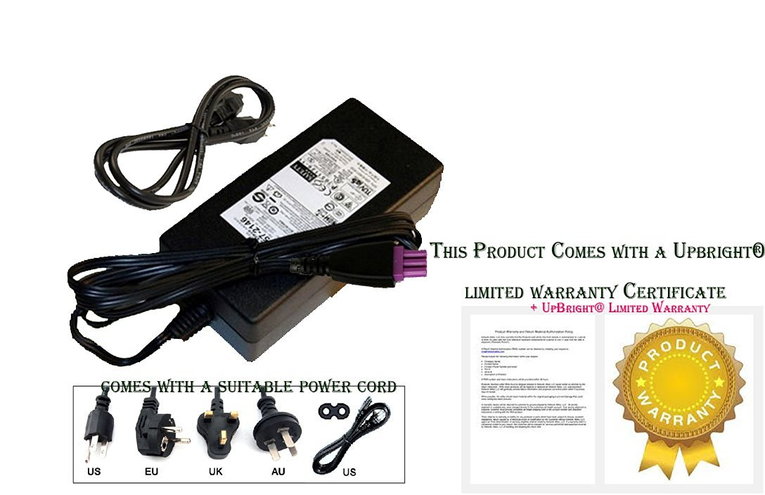 Note: This Item has Power Cord Cable ONLY. NOT AC Adapter Power Supply Whole Set. Accessory USA AC Power Cord Cable Plug for HP PhotoSmart 5510 e-All-in-One B111 Series eAIO Printer