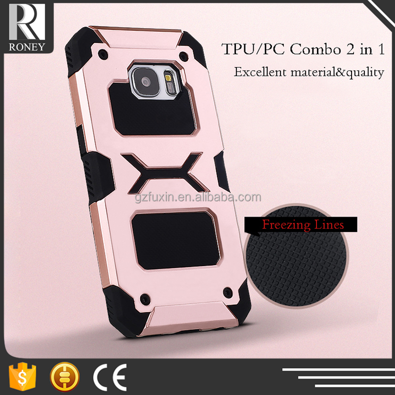 High quality China suppliers freezing lines tpu+pc 2 in 1 case for samsung s6