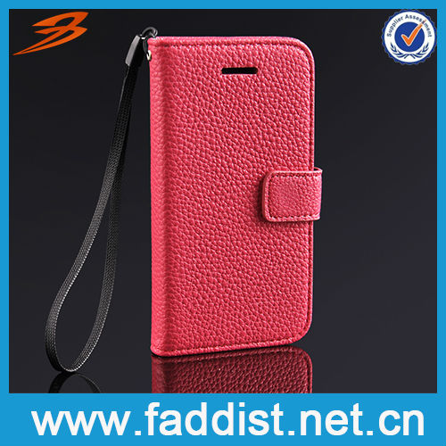 Hot Pink PU Leather Case for Apple iphone 5c New Product