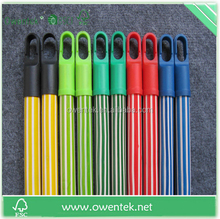 Less than 1 us dollar factory making in wooden colorful flower broom stick pvc cover