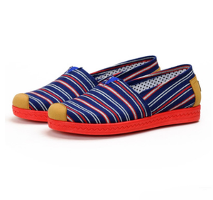 f8e70af18e0 wholesale ladies red bottom summer slip-on canvas shoes