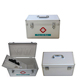 Stainless Steel hotel Office Medical First-Aid Kit Box with Shoulder Strap