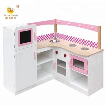 Wooden Kids Pretend Play Kitchen Toy Cabinet Furniture - Buy Wooden Kids  Kitchen Toy,Play Kitchen Furniture,Kids Kitchen Cabinet Product on ...