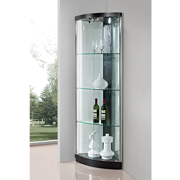 charme verre vitrine coin en verre vitrine meubles en bois. Black Bedroom Furniture Sets. Home Design Ideas