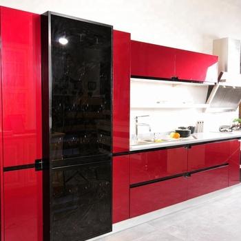 High Gloss Kitchen Cabinets Fashion Red