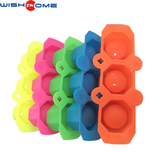 JianMei brand manufacturer hot selling FDA food grade colourful and useful supply 3 - hole silicone ice ball mold