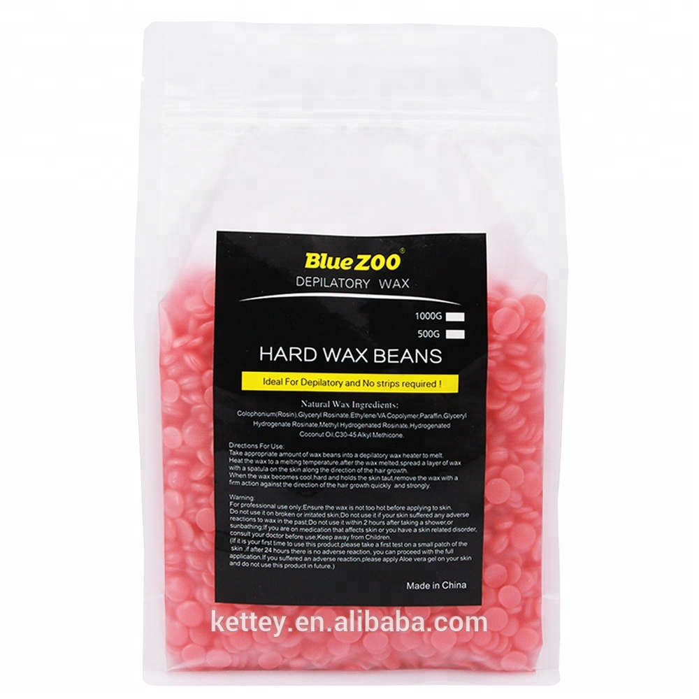 Bluezoo Top quality 10 flavors 1KG hard wax beans for hair removal depilatory wax
