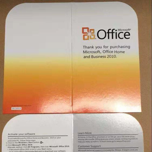 High quality microsoft office 2010 home and business software operating system