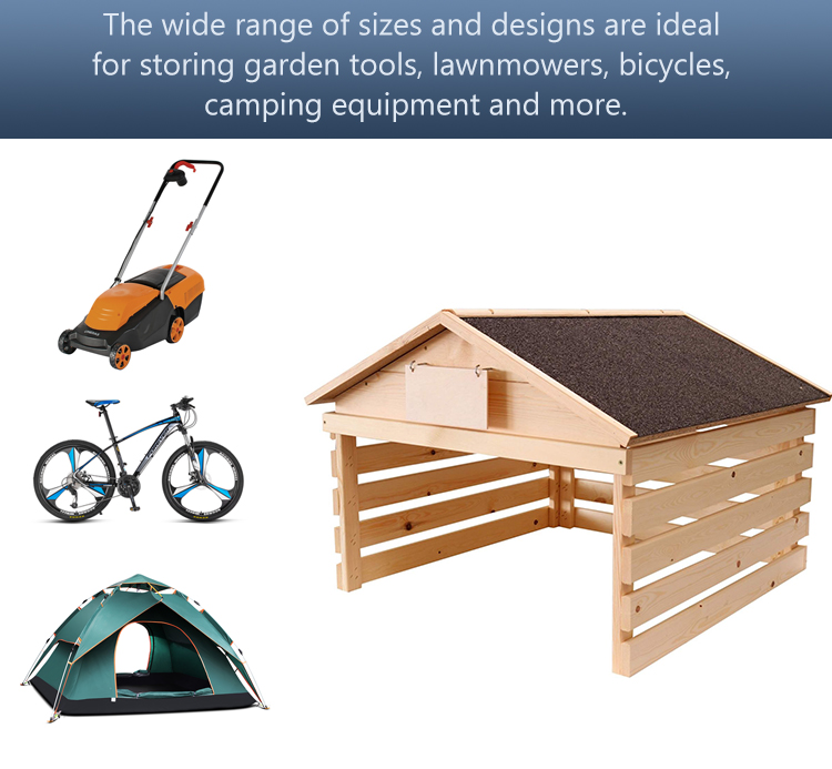 Garage for lawn mower robot 78 x 60 cm wooden lawn mower robot shelter