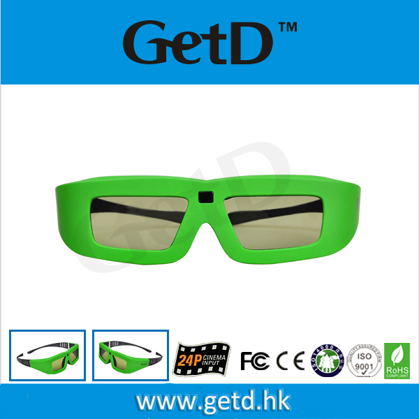 Different Colors Available!!Glasses to watch movies 3d with CR2032 battery in shenzhen--GT100