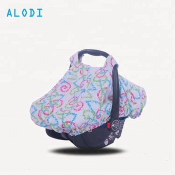 Colorful 100 Polyester Baby Car Seat Canopy And Cover With Zipper
