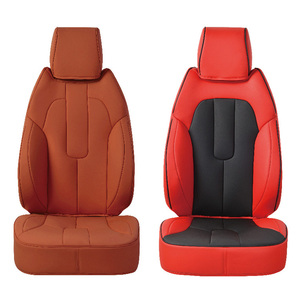 Stylish Durable PU Leather Japanese T-shirt Car Seat Cushion Cover
