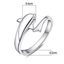 Lackingone hot sale Fashion cute dolphin party rings wedding rings christmas gift free shipping 99