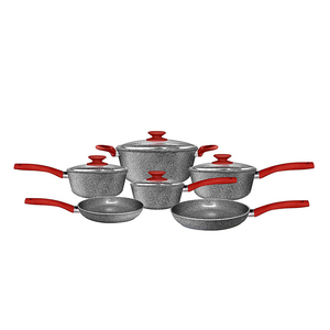 Forged Aluminum Marble Stone Cookware Sets Cookware