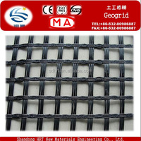 HDPE/ldpe plastic Uniaxial 25/25-150/150KN/M2 Geogrid for earthwork road paved