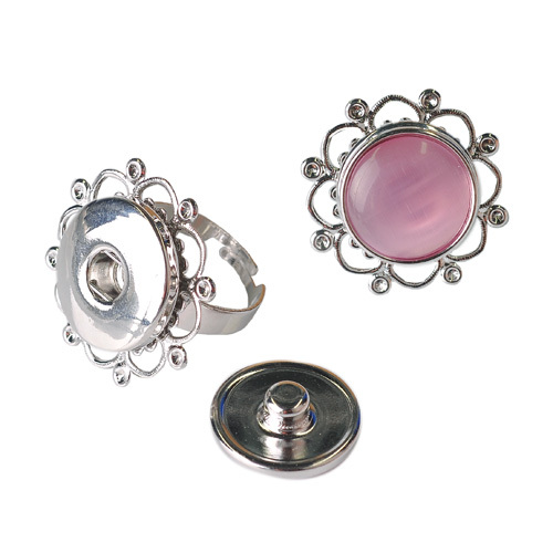 Silver Plated Round Finger Ring Base Blanks Jewelry Ring Setting
