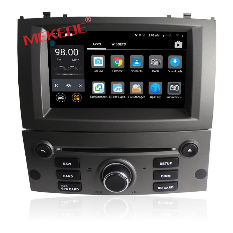 MEKEDE Android 7.1 CAR multimedia raido stereo For PEUGEOT 407 support DVR WIFI DAB OBD 4G 2G RAM