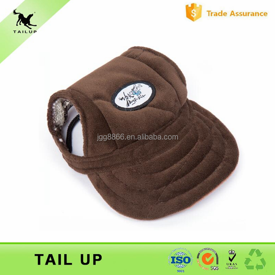 Pet Hair Accessories Nice Hats For Small Dogs Quilted Velvet Fabric Soft Dog Cap