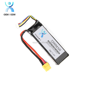 Li-polymer 7.4V 5200mAh 35C battery pack with hardcase for RC car