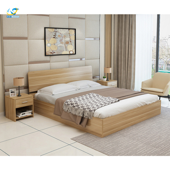 Solid Wood Bed Frame With Storage Drawers Double King Size Brown