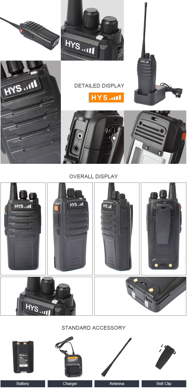 Small Size Intercom Interphone Set Cheap Two Way UHF VHF Chinese Handheld Radio Licence Free Walkie Talkie 10W