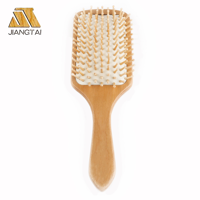 Professional massage wooden hair brush
