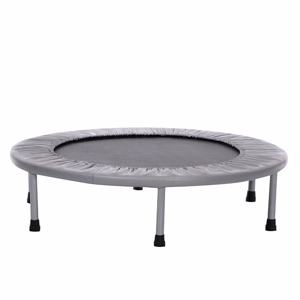 38-Inch Folding Trampoline with Safety Pad for Indoor or Outdoor Exercise