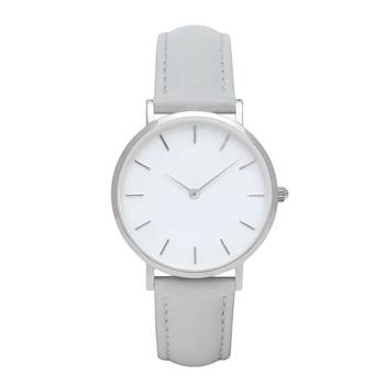 e4b5d0310c26 Logotipo personalizado reloj mujeres Mineral de vidrio o cristal de zafiro  estilo minimalista reloj con Grey
