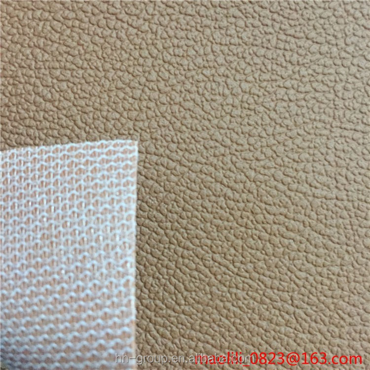 Anti scratch abrasion resistant litchi grain PVC artificial car seat <strong>leather</strong>
