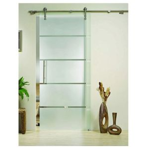 Frameless Large Interior Glass Sliding Shower Barn Doors (KT9002)