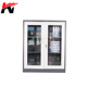 Half height swing glass door metal file storage cabinet