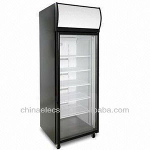 1-door Display Fridge/Freezer with Top Mount, Fully Removable Refrigeration Deck-1