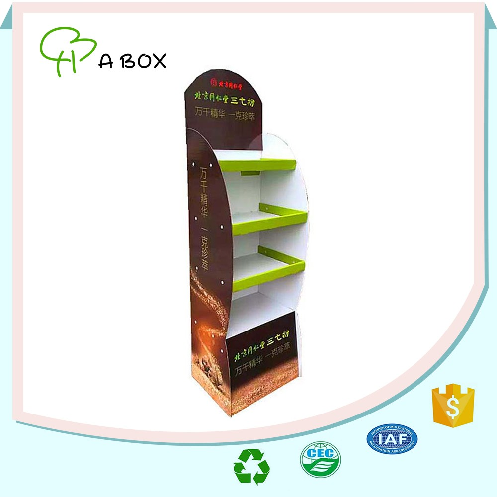 China supplier pharmacy promotion products floor display stand